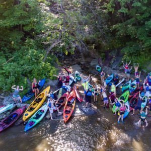 Blue Earth Project Adopt-a-River float on Blue Earth River