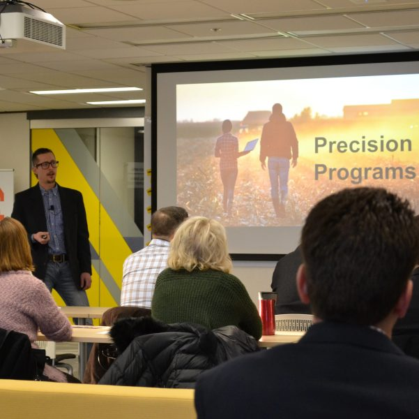 Blue Earth Project presenting at One Million Cups Mankato,MN.