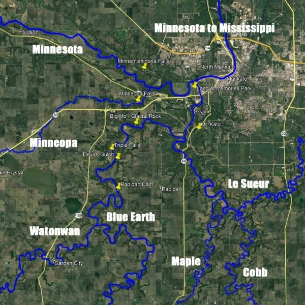 Blue Earth Project river map adopt